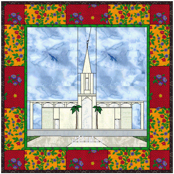Campinas Brazil Temple Hard Copy Pattern