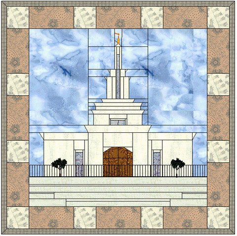 Columbia River Washington Temple Hard Copy Pattern