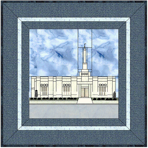 Detroit Michigan Temple Hard Copy Pattern