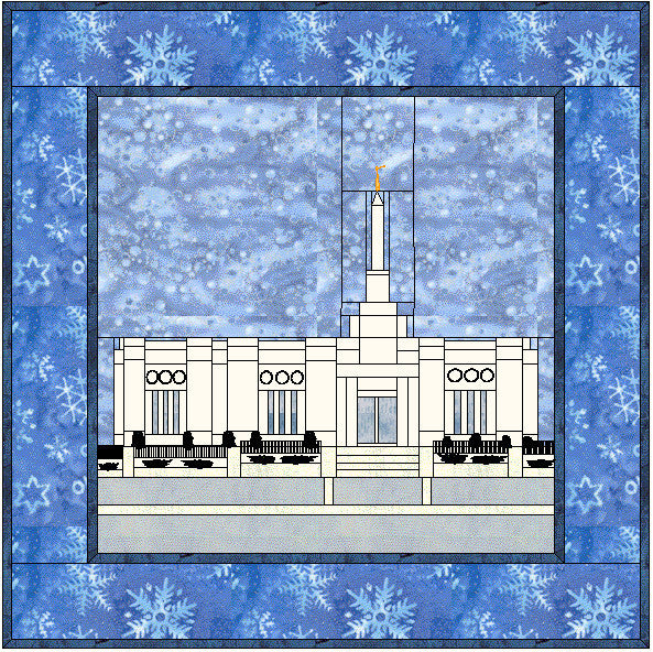 Edmonton Alberta Canada Temple Hard Copy Pattern