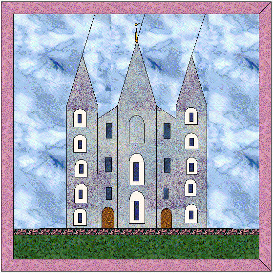 Free Salt Lake City Temple Super-Simplified Pattern