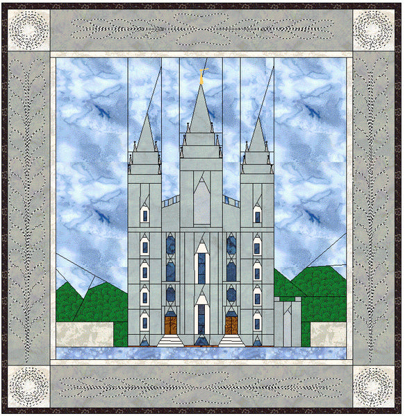 Salt Lake City Utah Temple Quilt A Temple
