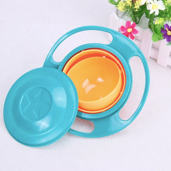 Rotating Spill-Proof Gyro Food Bowl for Babies