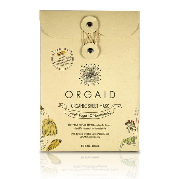 Orgaid Greek Yogurt & Nourishing Organic Sheet Mask - Lurra Wellness Inc.