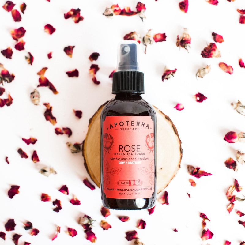 ROSE HYDRATING TONER WITH HYALURONIC ACID + ROOIBOS - Lurra Wellness Inc.