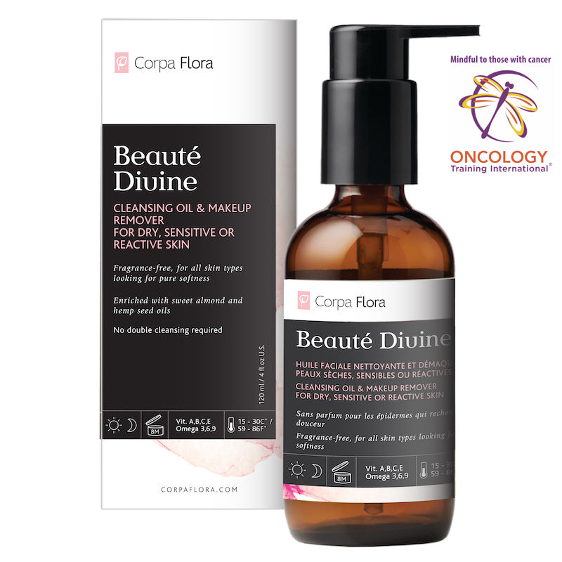 Corpa Flora Beauté Divine Facial Cleansing Oil and Makeup Remover for Dry, Sensitive or Reactive Skin, Fragrance free for all skin types - Lurra Wellness Inc.