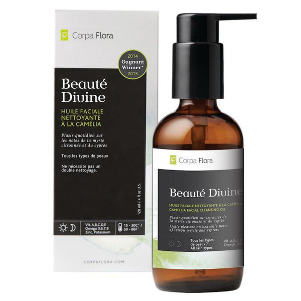 Corpa Flora Skin Care Beauté Divine Facial Cleanser | Award Winning Camellia Facial Cleansing Oil- Lurra Wellness Inc.