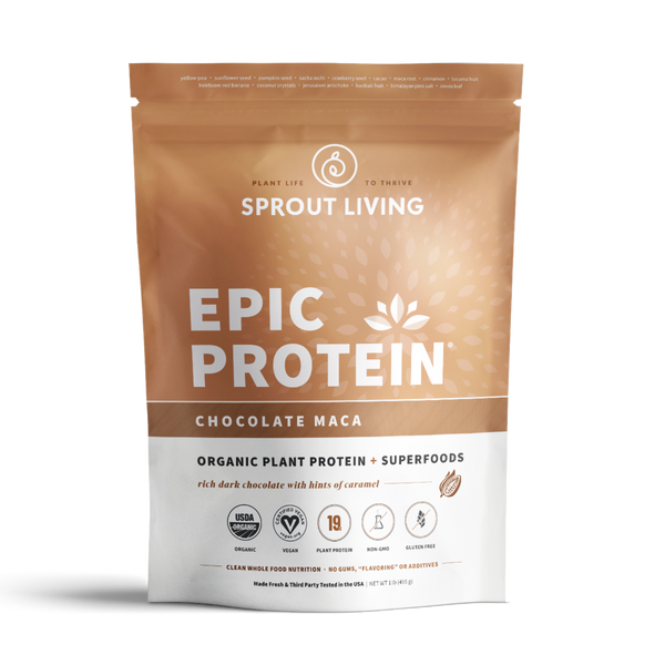Sprout Living Epic Protein Chocolate Maca - Lurra Wellness Inc.