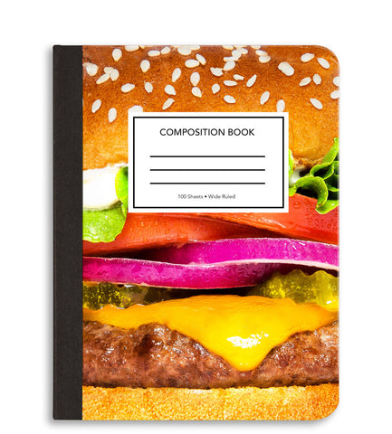 Cheeseburger Composition Notebook