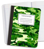 Green Camo Composition Notebook