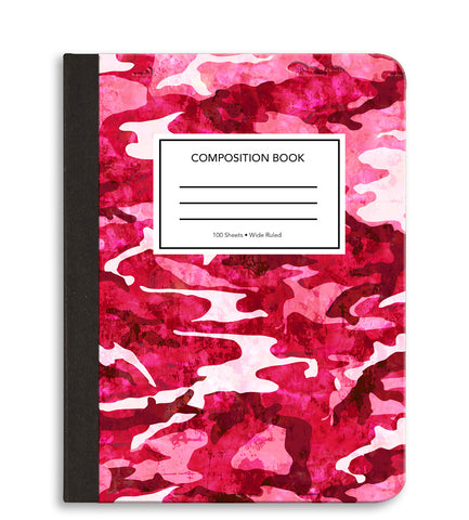 Pink Camo Composition Notebook