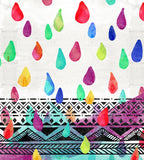 Jumbo Watercolor Rain Drops