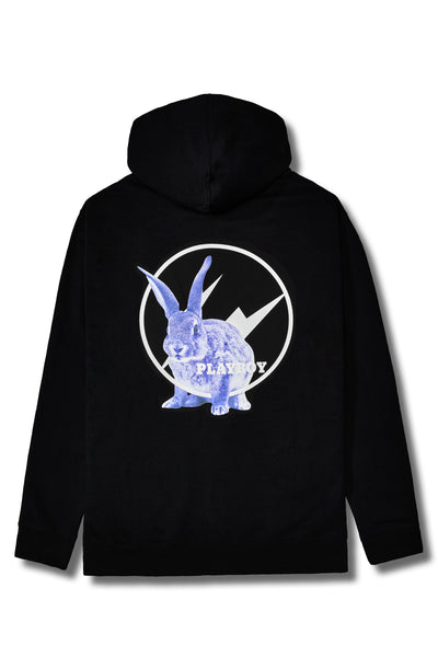 Fragment Meets Playboy Blue Bunny Black Hoodie