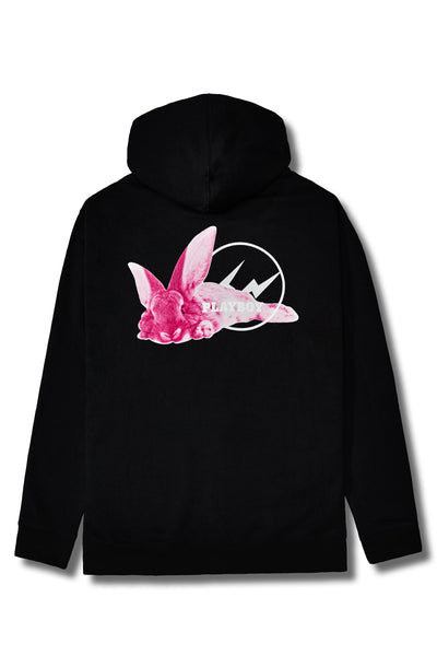 Fragment Meets Playboy Pink Bunny Black Hoodie