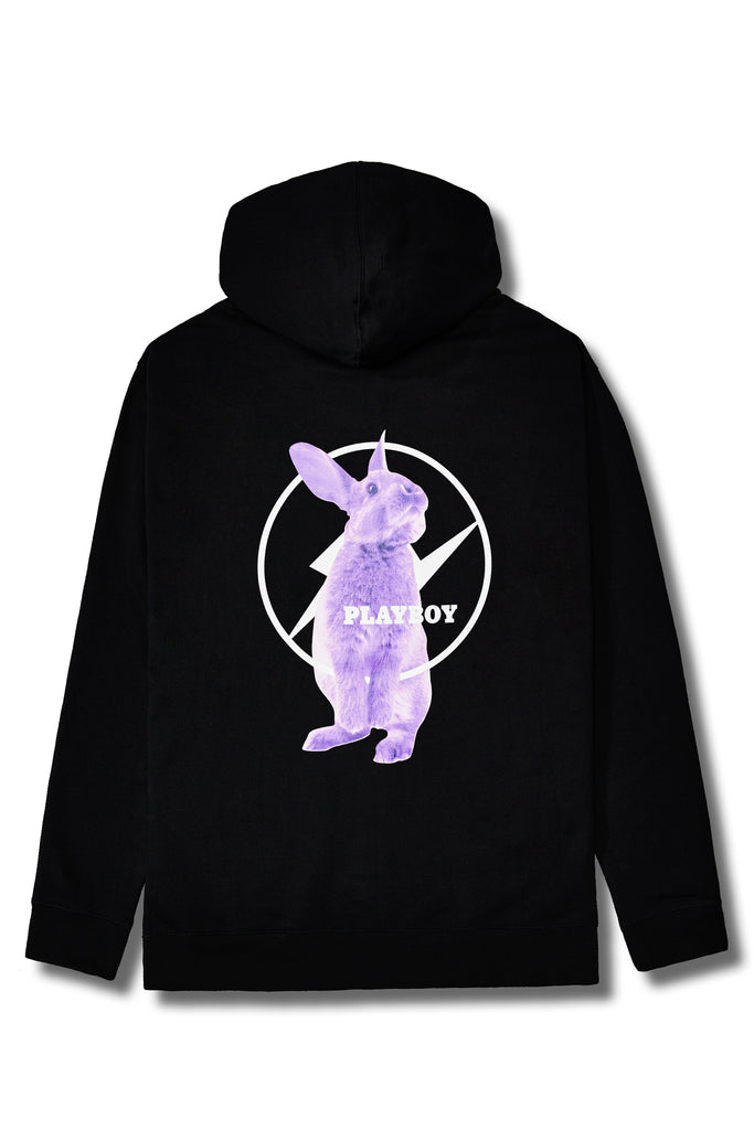 Fragment Meets Playboy Purple Bunny Black Hoodie