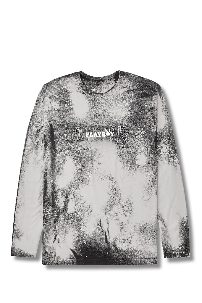 Galaxy Long Sleeve Tee Black Tie Dye