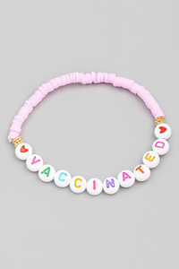 Vaccinated Stretch Bracelet