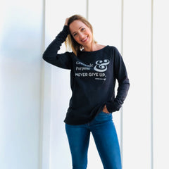 GRATITUDE PURPOSE & NEVER GIVE UP. SWEATSHIRT