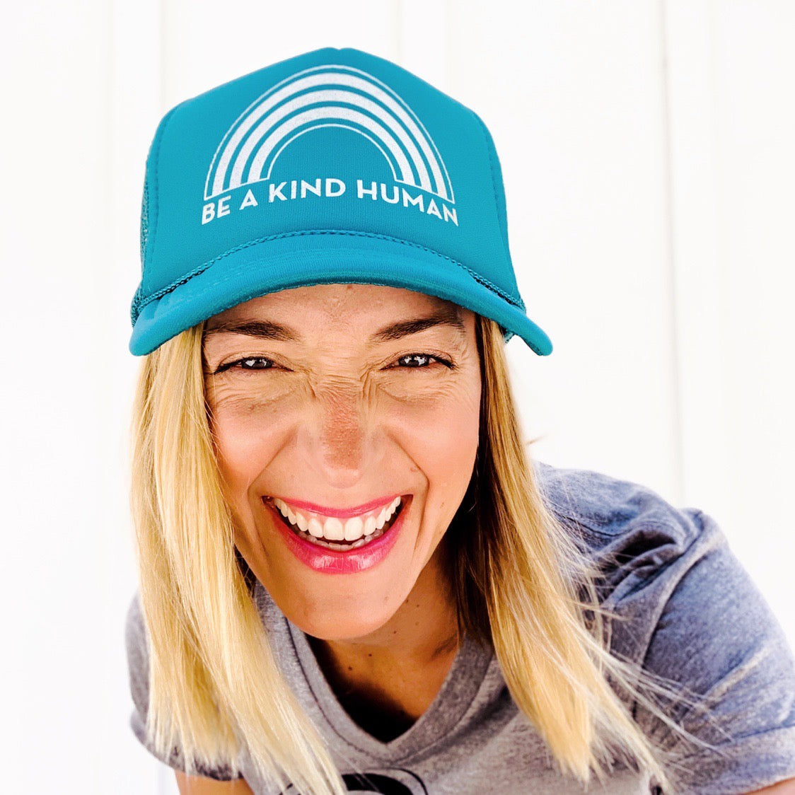 BE A KIND HUMAN TRUCKER HAT