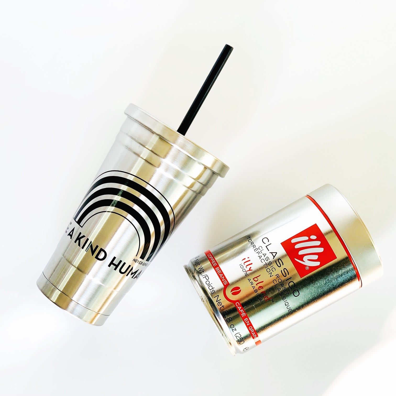 BE A KIND HUMAN STAINLESS STEEL TUMBLER