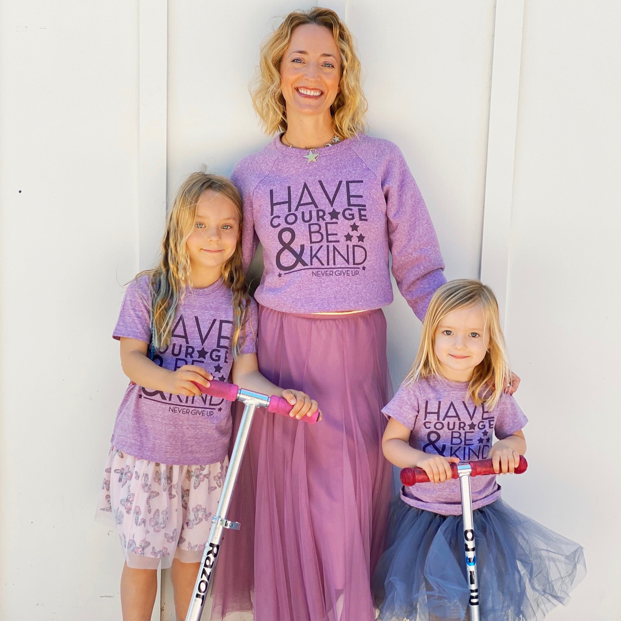 HAVE COURAGE & BE KIND SWEATSHIRT (LILAC)