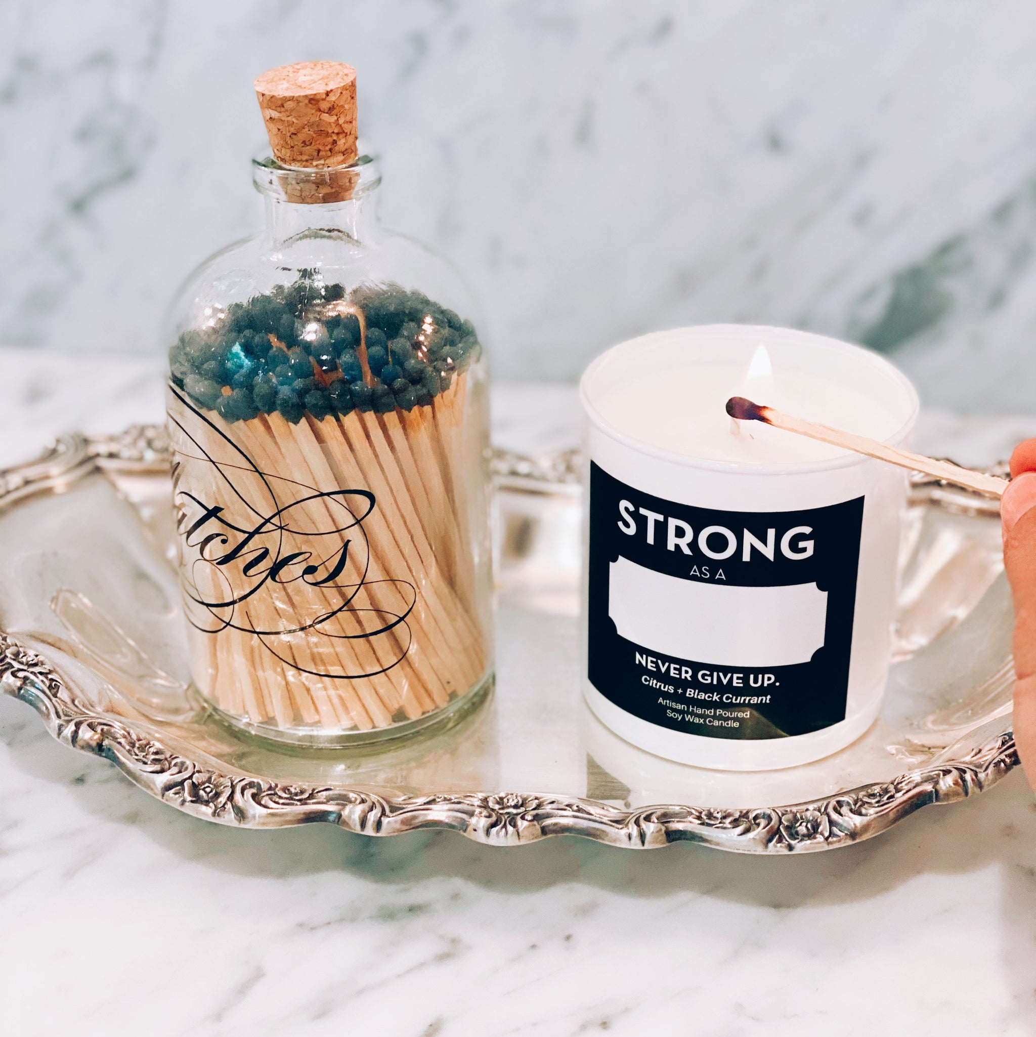 PERSONALIZED STRONG AS CANDLE