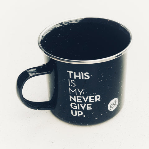 Pre-Order: THIS IS MY NEVER GIVE UP. CAMPING MUG