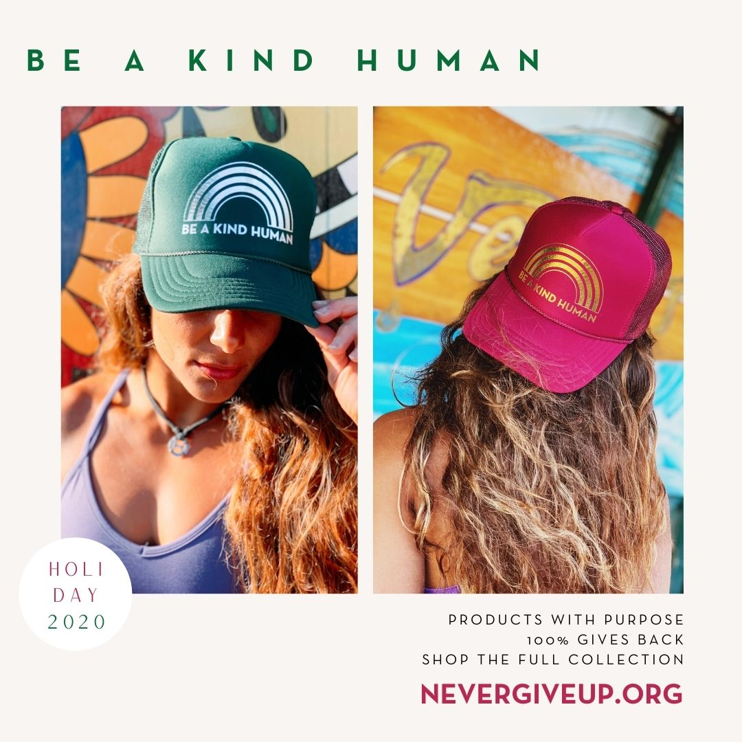 WINTER BE A KIND HUMAN TRUCKER HAT