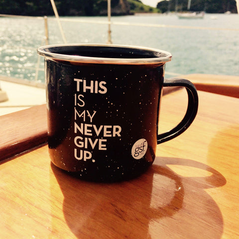 THIS IS MY NEVER GIVE UP. CAMPING MUG