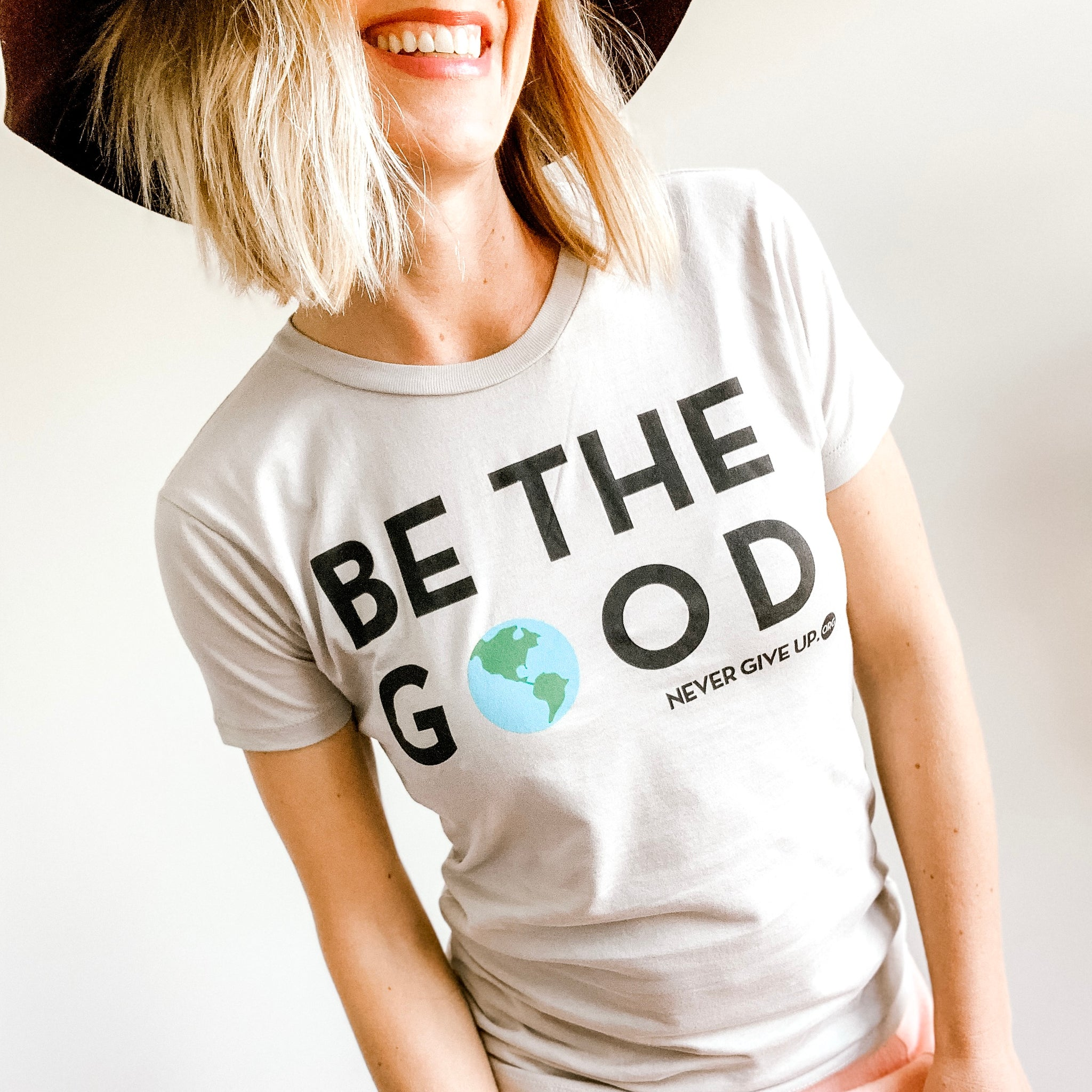BE THE GOOD. WOMEN'S FITTED TEE