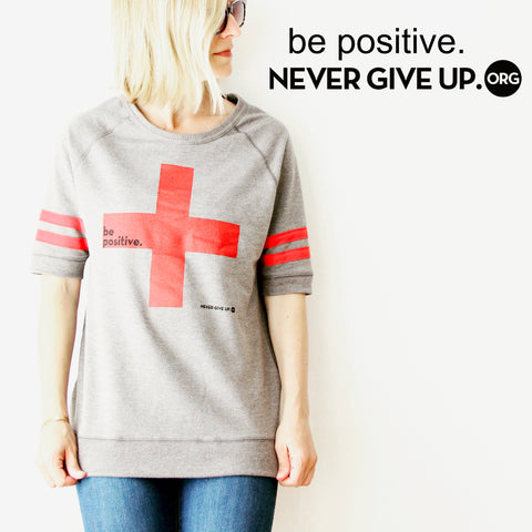 BE POSITIVE VINTAGE SWEATSHIRT