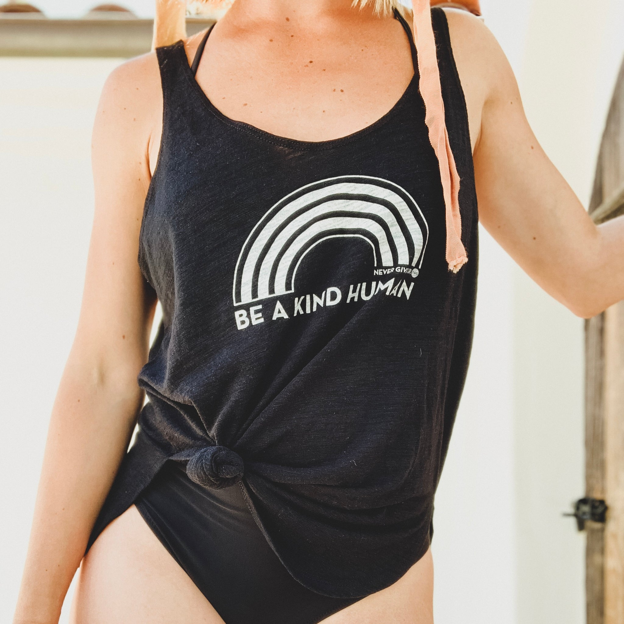 BE A KIND HUMAN FLOWY TANK