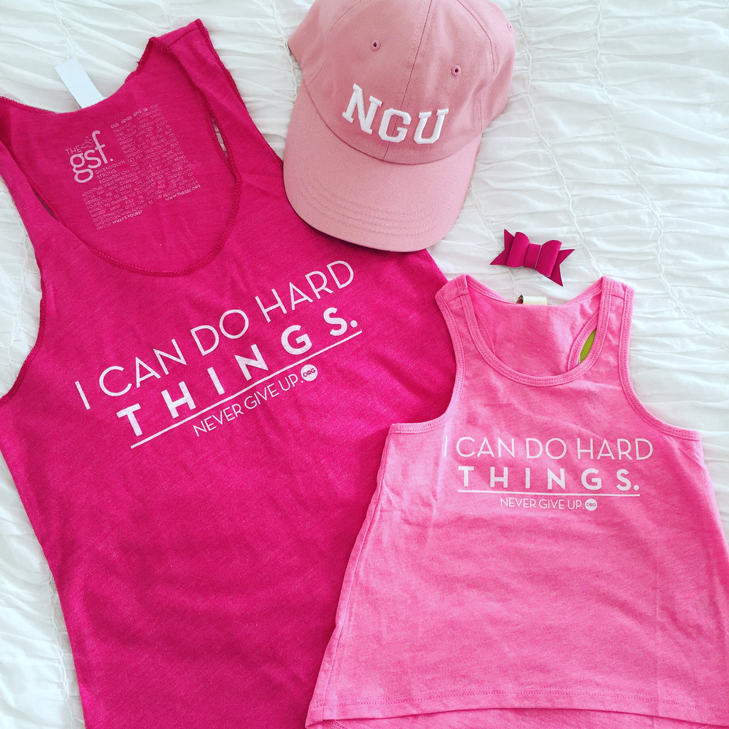 I CAN DO HARD THINGS PINK TANK