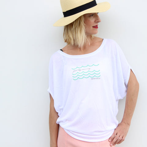 JUST KEEP SWIMMING FLOWY TOP