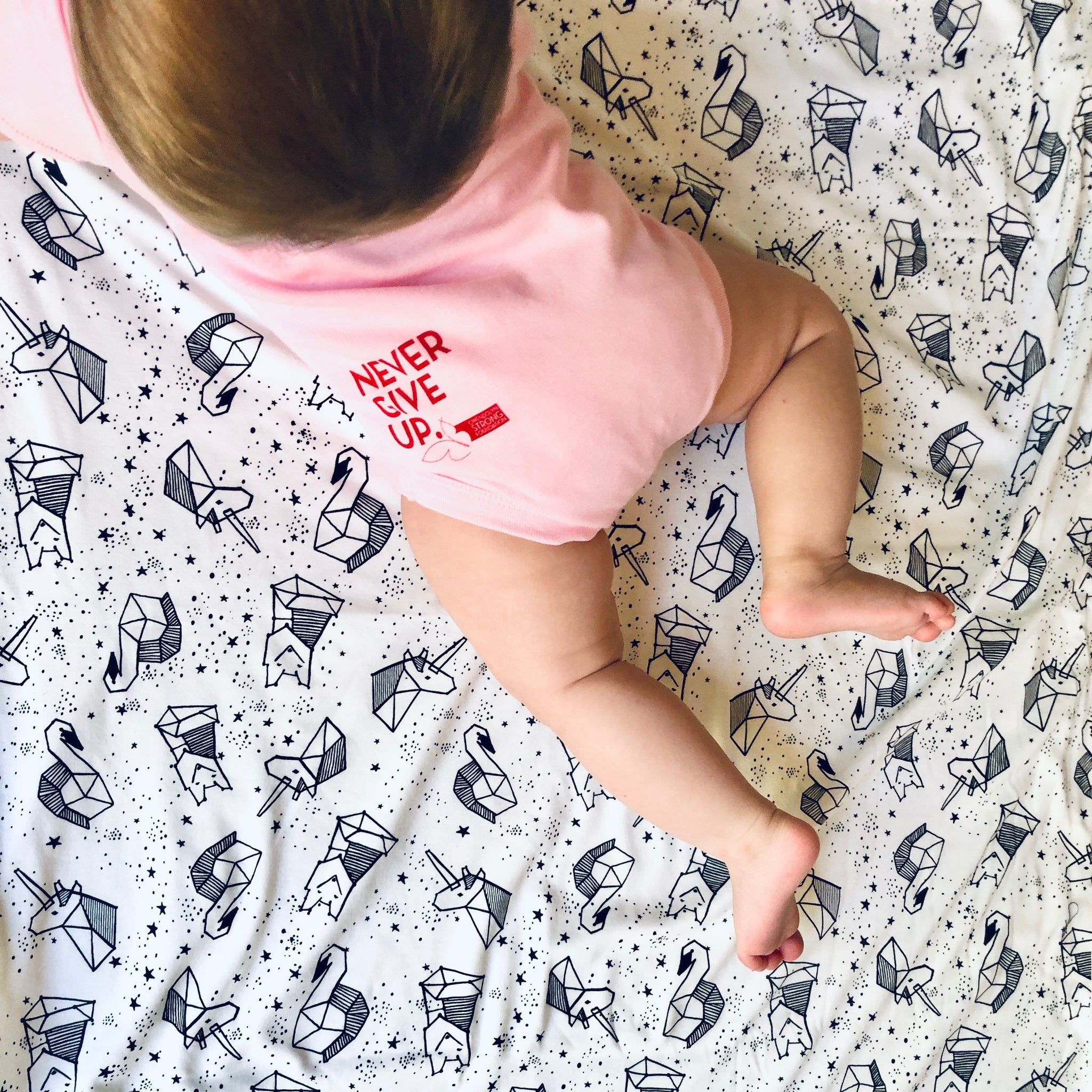 BABY PINK & RED SIGNATURE ONESIE