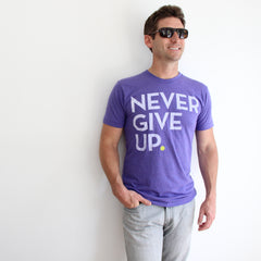 UNISEX PURPLE SIGNATURE TEE