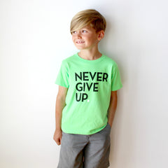 KIDS GREEN NEON SIGNATURE TEE