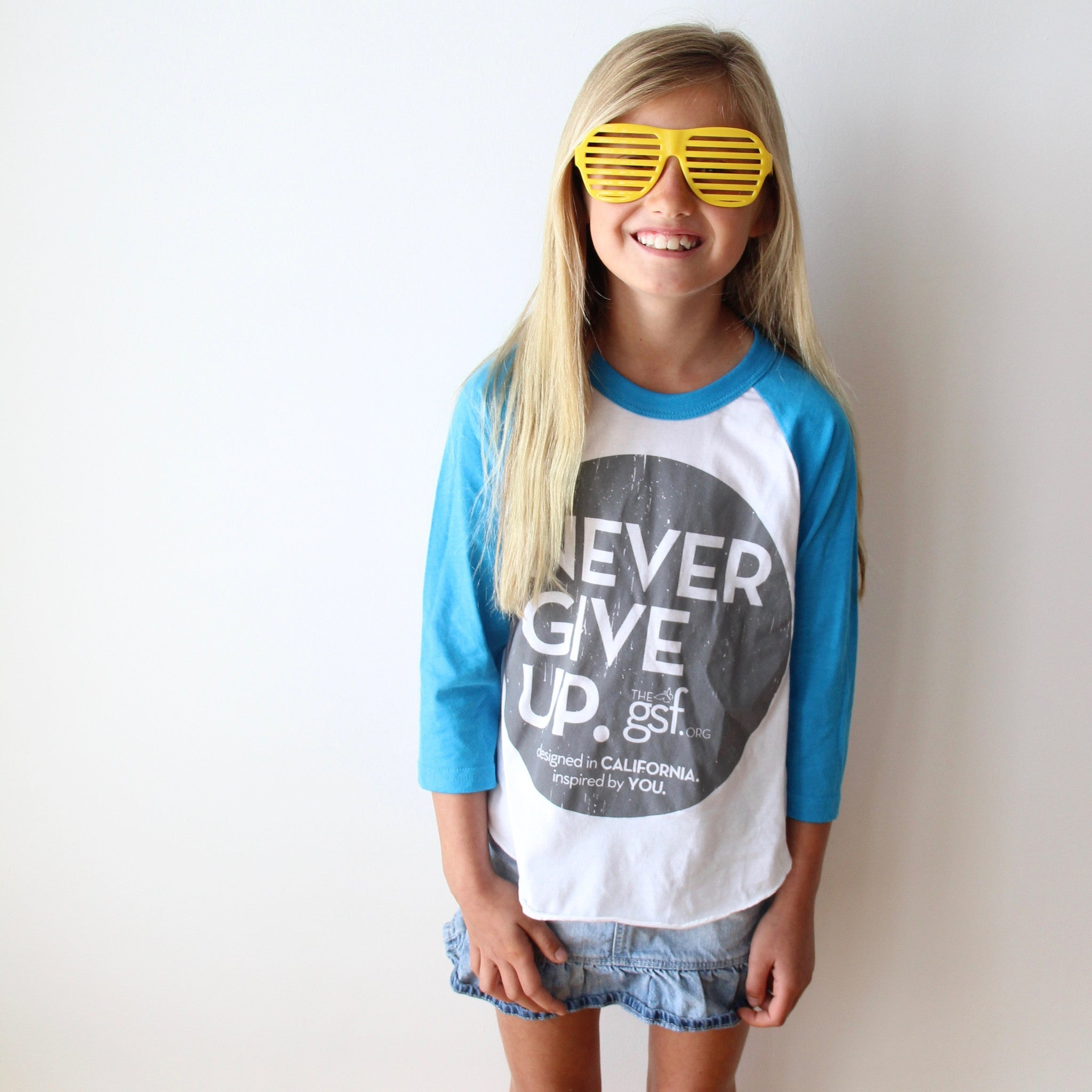 KIDS BLUE CIRCLE RAGLAN