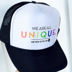 WE ARE ALL UNIQUE. TRUCKER HAT