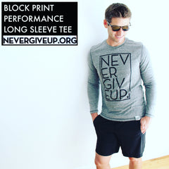 UNISEX BLOCK PRINT PERFORMANCE LONG SLEEVE TEE