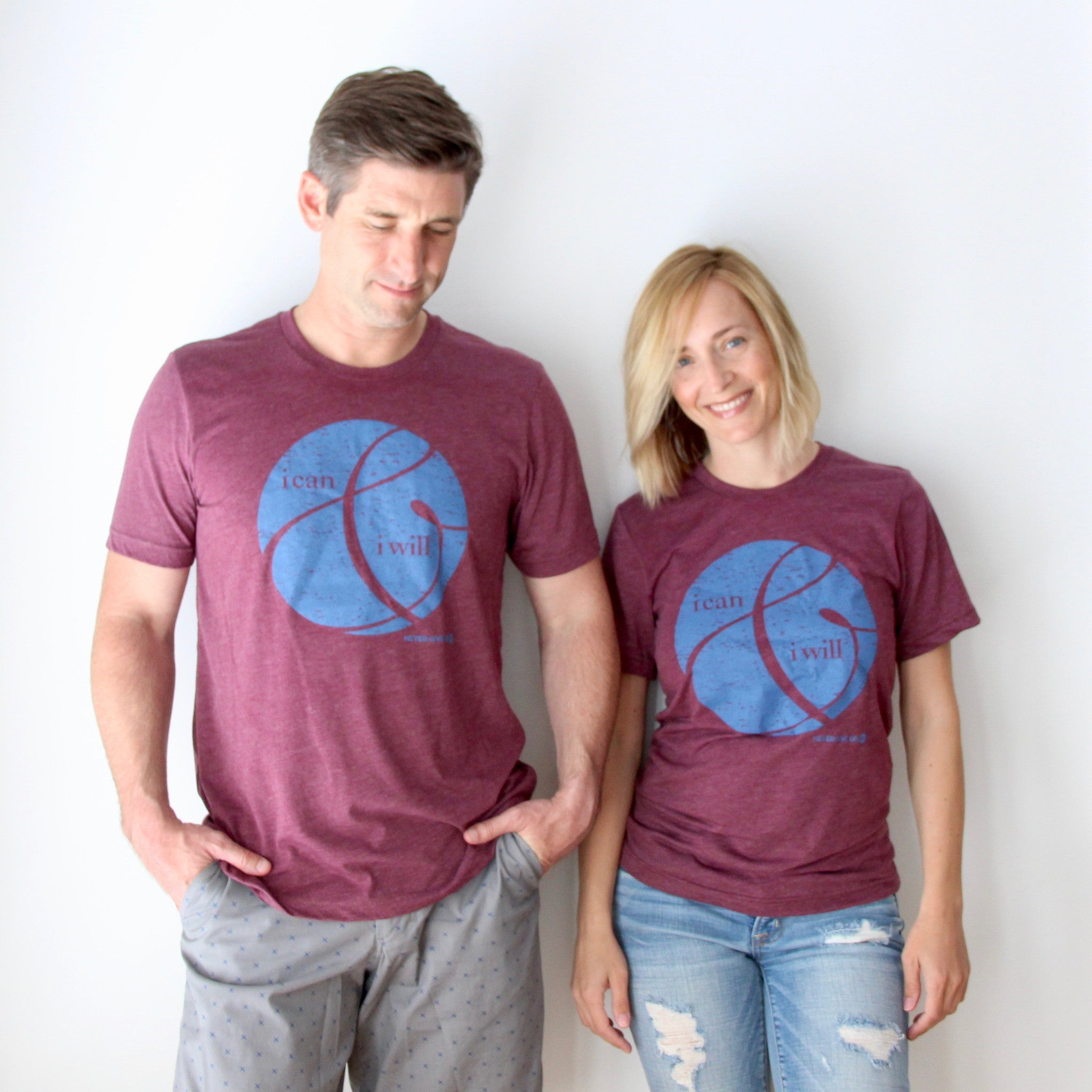 UNISEX I CAN & I WILL CRANBERRY TEE
