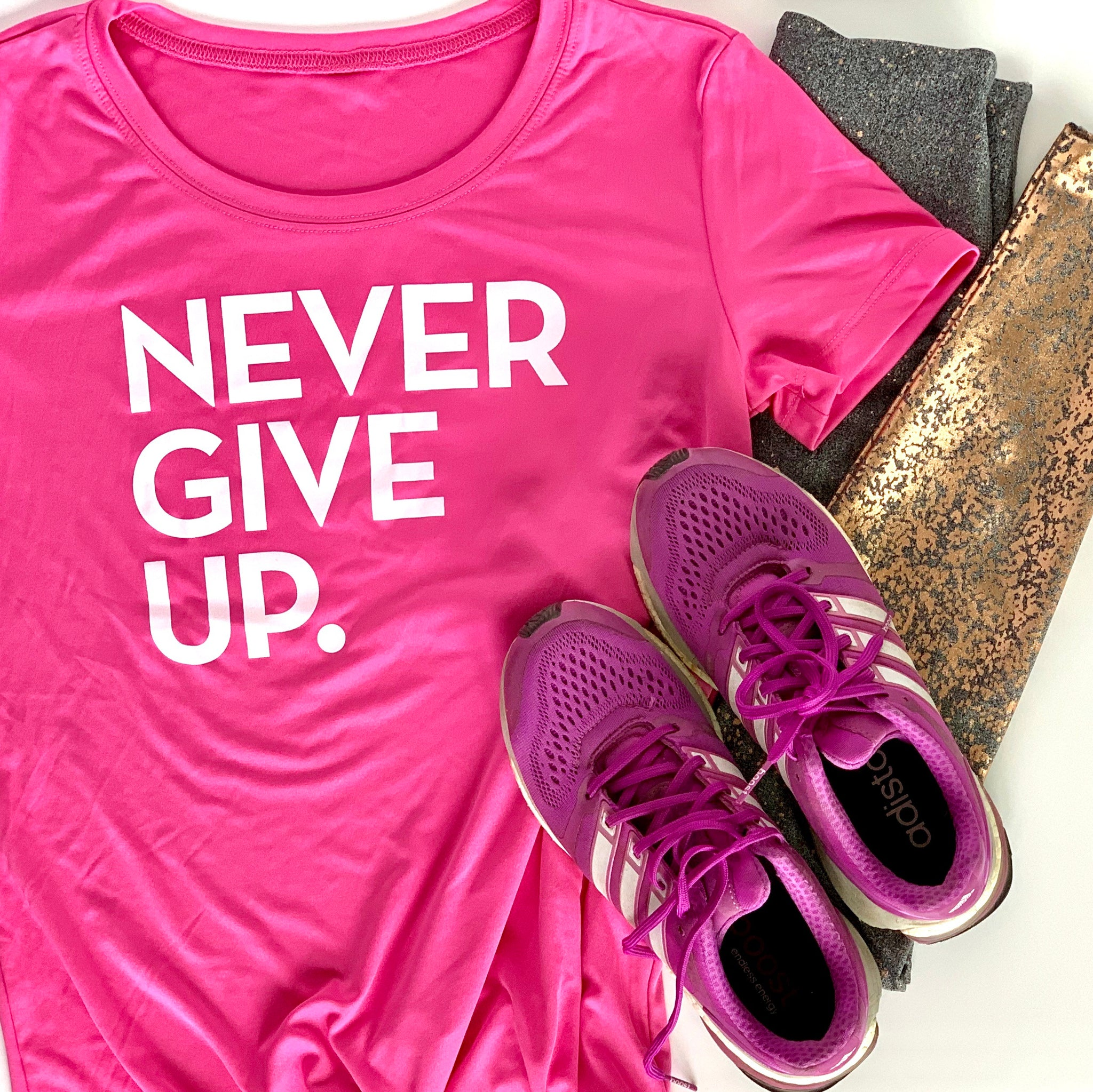 WOMENS PINK ATHLETIC TEE