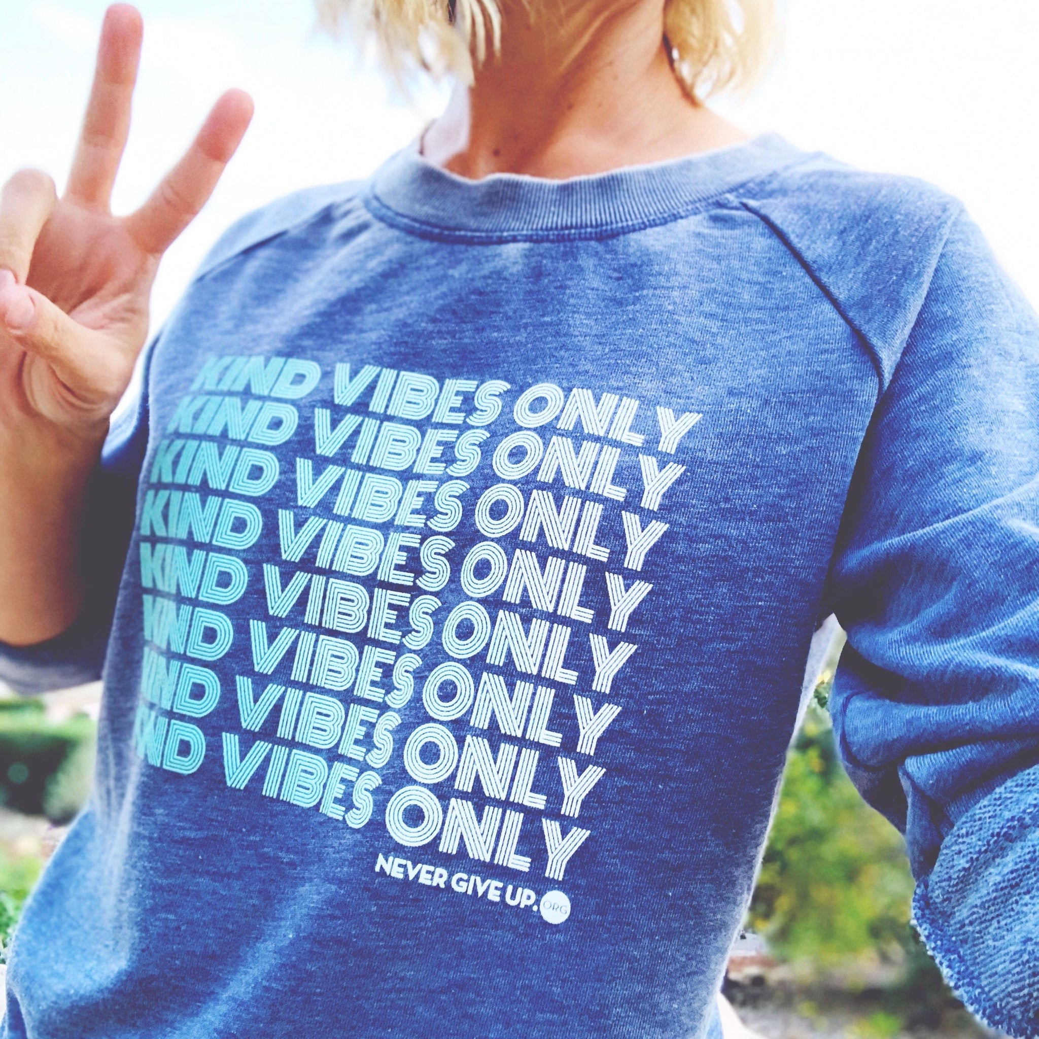KIND VIBES ONLY FRENCH TERRY SWEATSHIRT