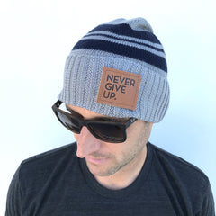 NEVER GIVE UP. BEANIE