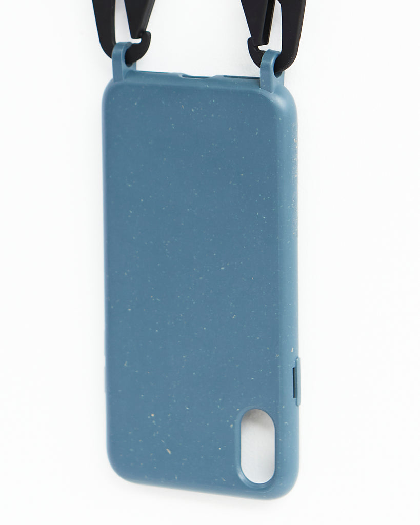 Carrie Case Crossbody Smartphone Case Eco-friendly Smartphone Necklace Carrie Case in Blue Iphone Bag