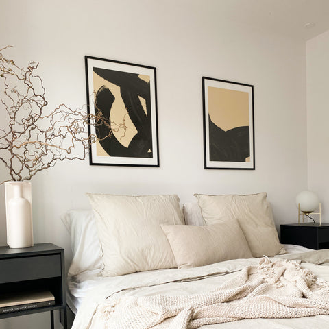 Mix and match your art piece with  home decor objects.
