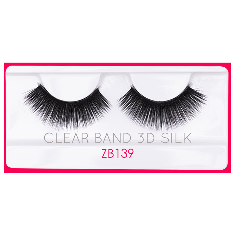 Clear Band 3D Silk Lashes - ZAYA BEAUTY