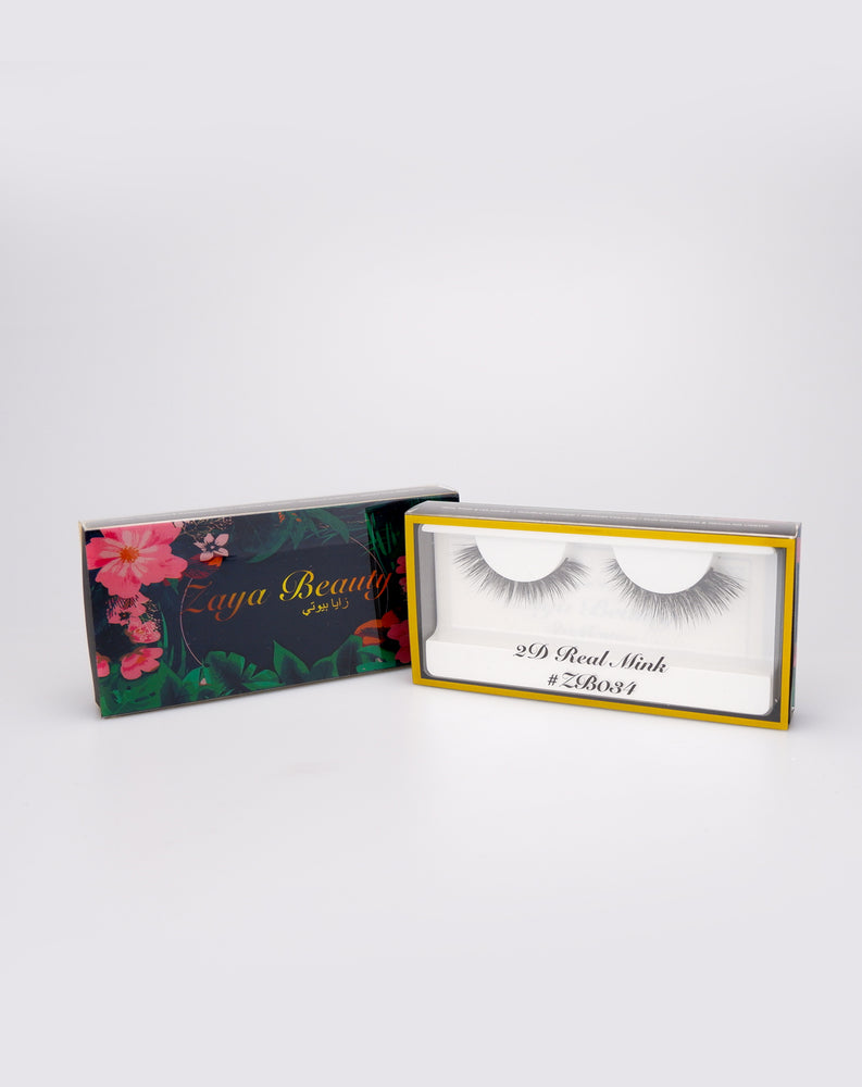 2D Real Mink Lashes ZB034