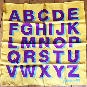 Silk Small Alphabet Square - Yellow