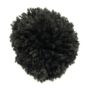 Black Interchangeable Cashmere Pom Pom